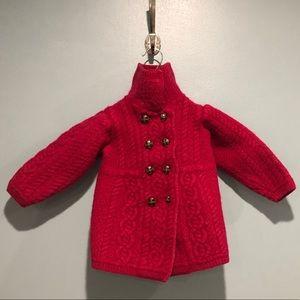 Aran Crafts girls Irish wool magenta sweater